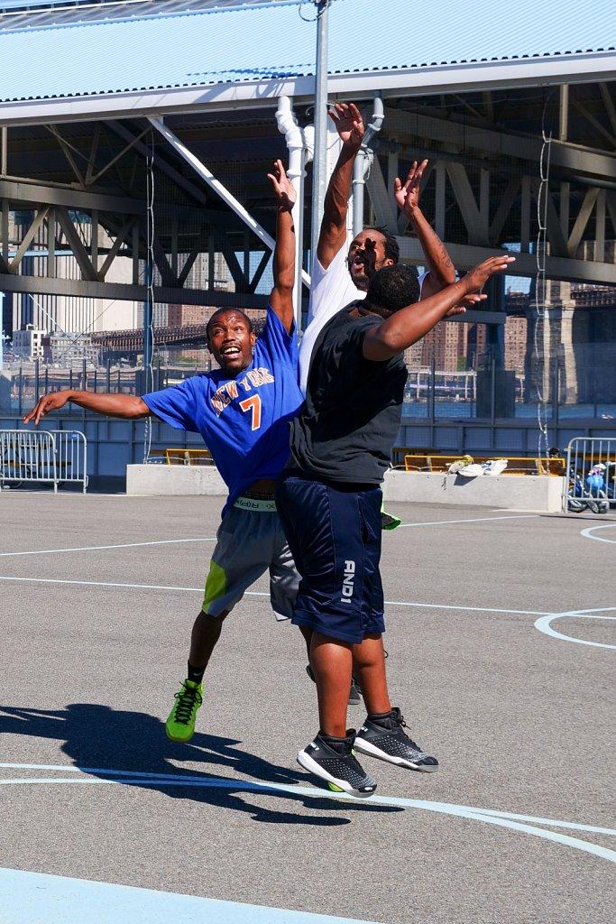 Basketball in Brooklyn Bridge Park
